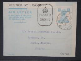 GRANDE BRETAGNE-INDE-Entier Postal De Madras Pour Paris Avec Controle En 1945    à Voir    P5747 - Inde (...-1947)