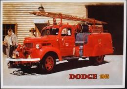 C.P.M. - SAPEURS-POMPIERS - Vehicule DODGE POMPIER 1945 - Collection J. De Resmail - Très Bon état - - Firemen