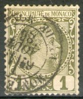 MONACO: N°1 Oblitéré       - Cote 20€ - - Gebraucht