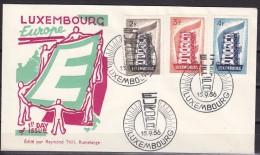 Europa Cept 1956 Luxemburg 3v FDC (F3443) - Europa-CEPT