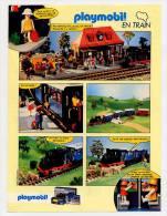 Publicité De 1985 Sur Le Playmobil, Playmobil En Train - Collections