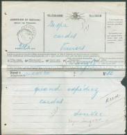 TB Ensemble De 2 Télégrammes Déposé, L'un à Mouscron + Càd Télégraphique De VERVIERS (STATION) Le 15 Décembre 1900; L'au - Telegraph