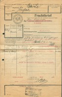Lettre De Voiture Expédiée De (cachet Ferroviaire) BEYNE Le 21 Mars 1917 (avec Cacchet Bleu) Vers MARCHE Facteur N°1, Vi - Railway