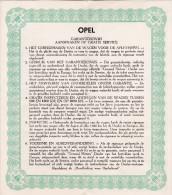 AUTO-OPEL-REKORD-GARANTIEBEWIJS-1953-ETABLISSEMENT-SWAELS-LEUVEN-IN MOOIE STAAT BEWAARD-ZIE 2 SCANS ! ! ! - Transport