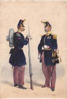 Artist Drawn Ligne Grande Tenue C1870 Uniform Postcard (U15064) See Condition - Uniformes