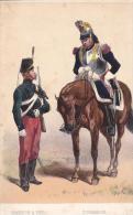Artist Drawn Chasseur A Pied Curassier C1870 Uniform Postcard (U15066) See Condition - Uniformes