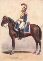 Artist Drawn Carabinier C1870 Uniform Postcard (U15067) See Condition - Uniformes
