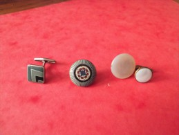 1 LOT DE 4   BOUTONS DE MANCHETTE ANCIEN   METAL ET NACRE  A IDENTIFIER - Buttons