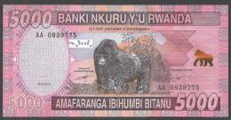 RWANDA  : 5000 Francs  - 2014 - FDS - Rwanda
