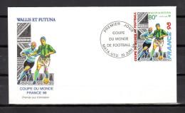 "WALLIS ET FUTUNA 1998 : Enveloppe 1er Jour "" FRANCE 98 / MATA - UTU Le 10-06-1998 "" N° YT 520 . Parf état. FDC - World Cup"