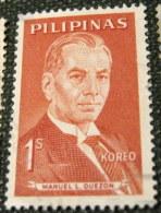 Philippines 1962 Famous Filipinos Manuel L Quezon 1s - Used - Philippines