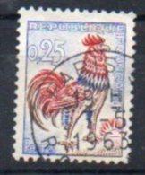 Coq N° 1331d Oblitéré - Papier Fluorescent Jaune Vif Aux UV - Timbre AVEC CLAIR - Cote 65€
