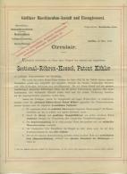 Reklame-Flugblatt D. Görlitzer Maschinenbau-Anstalt, Görlitz, 1884 - Werbung