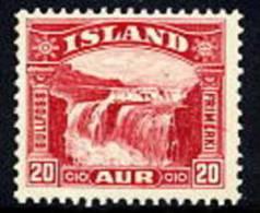 ICELAND 1931 Gullfoss 20 A. MNH / **.  Michel 151 - 1918-1944 Autonomous Administration