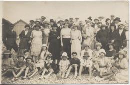 80  -  CAYEUX SUR MER   -  CARTE PHOTO  -  La Plage  -  Photo LEVEQUE  à   AULT ONIVAL  Et  ESCARBOTIN -  1921 - Cayeux Sur Mer