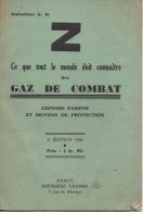 Guerre 1939/1945 Militaria 18 P Fascicule Gaz De Combat 1936 Défense Passive - Non Classés
