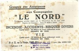 """BUVARD  Groupez Vos Assurances Aux Compagnies  """" LE NORD """" Incendie Accidents Risques Divers..... PARIS  14.06.1938... - Automobile"""