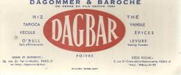 """BUVARD PARIS  """" DAGBAR """"  DAGOMMER & BAROCHE  Riz Tapioca Fécule  Thé Vanille épices Levure Poivre .... - Alimentaire"""