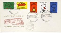 Autopostkantoor Kinderpostzegelactie 1969 - Blanco / Open Klep - FDC