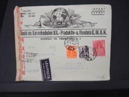 HONGRIE-Enveloppe Illustrée De Budapest Pour  Wien En 1944 Avec Bade De Controle    à Voir    P5767