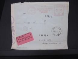 ROUMANIE-Enveloppe En Recommandée De Bucarest Pour  Wien En 1943 Avec Bande De Controle  Aff Mécanique à Voir    P5768 - 2. Weltkrieg (Briefe)