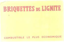BUVARD BRIQUETTES De LIGNITE   Combustible Le Plus Economique .... - Buvards, Protège-cahiers Illustrés