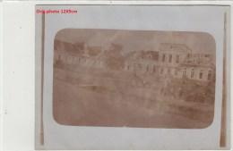 Orig.Photocarte Allemande- Schloss Château Soldats Allemand Jardinant Dans Le Parc  (PAYS De L´EST Guerre14-18)2scans - War 1914-18