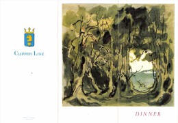 "01661 ""MENU"" STELLA POLARIS DINNER CONCERT 23 GIUGNO 1960. ORIGINALE - Menu"