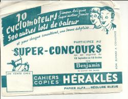 BUVARD 10 CYCLOMOTEURS ... 500 Autres Lots De Valeur   SUPER CONCOURS   Cahiers Copies  HERAKLES  ..  .... - Automobile