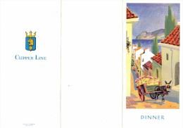 "01663 ""MENU"" STELLA POLARIS DINNER CONCERT 20 GIUGNO 1960. ORIGINALE - Menu"