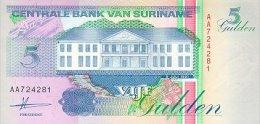 Surinam 5 Gulden 1991 Pick 136a UNC - Surinam