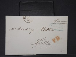 RUSSIE-Lettre ( Avec Texte) De St PETESBOURG Pour LILLE En 1860 à Voir    P5775 - 1857-1916 Empire