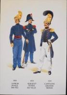 C.P.M. - UNIFORMES Et MATERIELS Des SAPEURS-POMPIERS - Série Historique - Très Bon état - - Uniforms