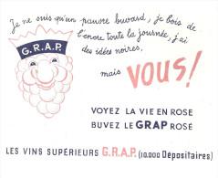 BUVARD   G. R. A. P.  Voyez La Vie En Rose , Buvez Le GRAP Rosé  Les Vins Superieurs G.R.A.P. 10.000 Depositaires - Liqueur & Bière