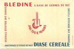 BUVARD   JACQUEMAIRE  BLEDINE A Base De Germes De Blé Additionnée D'extrait De Malt DIASE CEREALE ....... - Liqueur & Bière