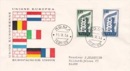 Italy 1956 Europa FDC - Europa-CEPT