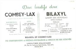BUVARD  PARIS  Deux Laxatifs Doux  COMBEY LAX  BILAXYL  Suppositoires Sirop Laxatif Des Hepatiques Cholagogue .... ..... - Produits Pharmaceutiques