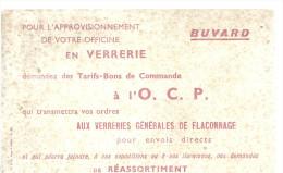 BUVARD  AUX VERRERIES GENERALES DE FLACONNAGE  Tarifs Bons De Commande A L' O. C. P.  ..... - Buvards, Protège-cahiers Illustrés