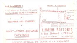 BUVARD  PARIS  LIBRAIRIE  EDITORIA  Librairie Des Ecoliers  Achat Vente Echange Papeterie  .... - Papeterie