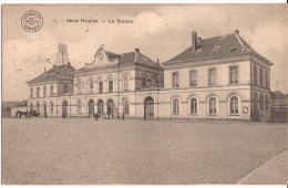 SAINT NICOLAS Sint-Niklaas La Station Feldpost 30.12.1914 Met Stempels Re747 /d5 - Sint-Niklaas
