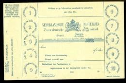 BRIEFKAART ONGEBRUIKT * BINNENLANDSCHE KUS / GROETWISSEL   (9810a) - Entiers Postaux