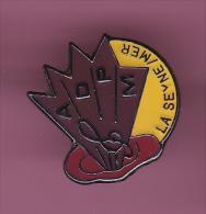44878-Pin's.Assoc Pour Le Developpement Des Pedagogies Mus à La Seyne-sur-Mer.signé Saggay - Villes