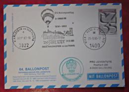Vereinte Nationen UNO Wien 1980 Ballonpost Karte Waidhofen - ONU