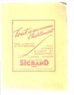 BUVARD  PARIS PROVINCE  Vetements SIGRAND  Tout Ce Qui Concerne L'habillement Pret A Porter Et Sur Mesures .... - Textile & Vestimentaire