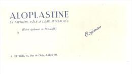 BUVARD  PARIS ALOPLASTINE  La Premiere Pate E L'eau Spécialisée  ECZEMAS - Produits Pharmaceutiques