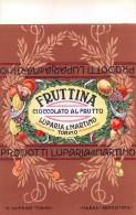 """01674 """"FRUTTINA CIOCCOLATO AL FRUTTO -  LUPARIA E MARTINO - TORINO """".  ETICHETTA ORIGINALE. - Cioccolato"""