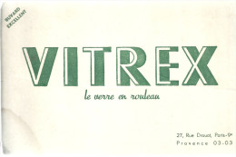 BUVARD PARIS   VITREX  Le Verre En Rouleau   ....  ... - Buvards, Protège-cahiers Illustrés