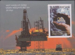 RO)2014 AZERBAIJAN, 20TH ANNIVERSARY OF THE SIGNING OF CONTRACT OF THE CENTURY FOR OIL PRODUCTION, S/S, XF - Azerbaïjan