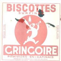 BUVARD  PITHIVIERS EN GATINAIS   GRINGOIRE  BISCOTTES  Surfines   .   ... - Alimentaire