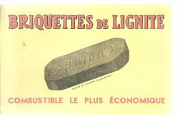 BUVARD  ALLEMAGNE  UNION   BRIQUETTES De LIGNITE  Combustible Le Plus économique ..... - Electricité & Gaz